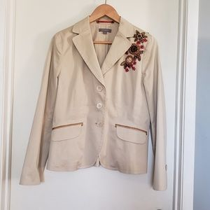 Jackets & Blazers - Ann Taylor Size 10 Embroidered Floral Blazer